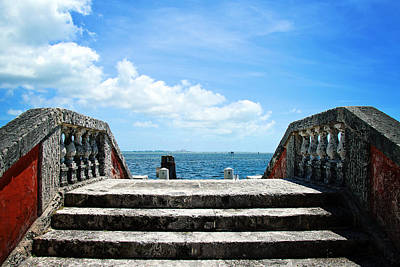 Photograph - Sea Stairs by Vanessa Valdes