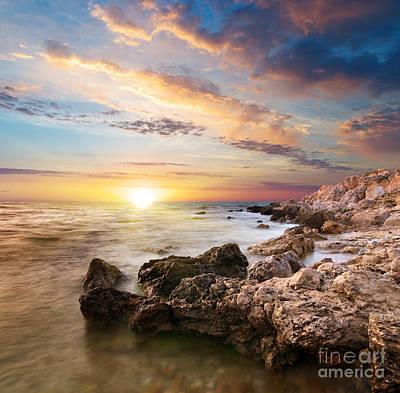 Sea Stones Art Print by Boon Mee