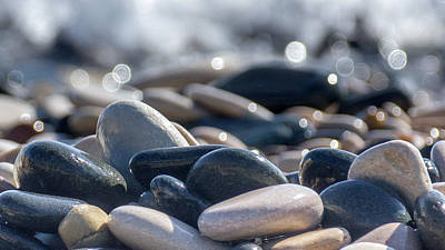Abstract Seascape Photograph - Sea Stones  by Stelios Kleanthous