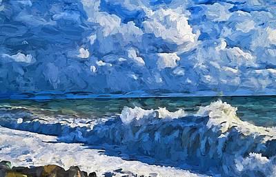 Rustic Beach Decor Wall Art - Digital Art - Sea Storm Coming Soon by Yury Malkov