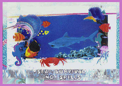 Sea Survival No Spills Art Print by Mary Ann  Leitch