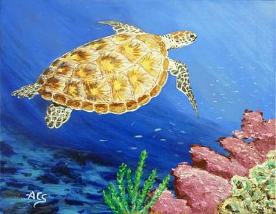 Painting - Sea Turtle by Amelie Simmons