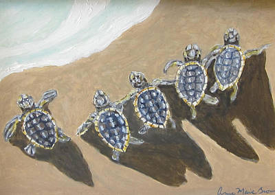 Sea Turtle Babes Art Print