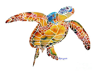 Painting - Sea Turtle Gentle Giant 2 by Jo Lynch