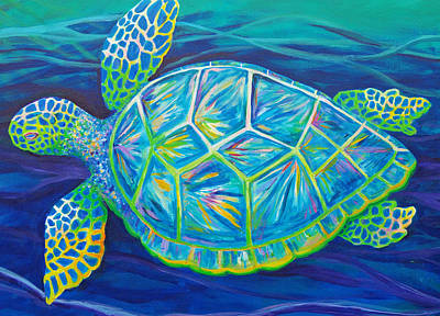 Sea Turtle I Art Print by Anne Marie Brown