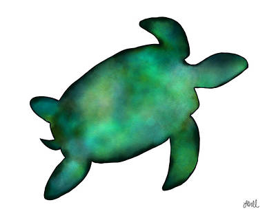 Baby Sea Turtle Painting - Sea Turtle by Laura Bell