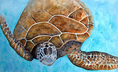 Painting - Sea Turtle Snorkel by Patricia Beebe