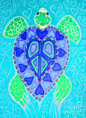Sea Turtle Swim Art Print