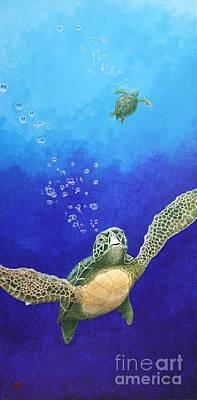 Sea Turtles Art Print by Fred-Christian Freer