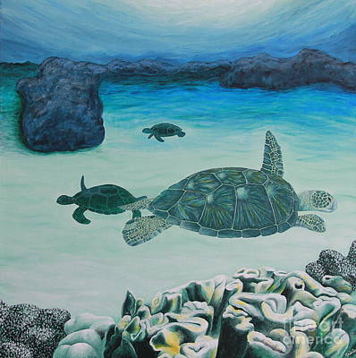 Sea Turtles Art Print by Krista Kulas