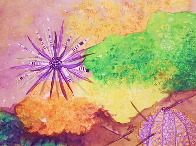 Painting - Sea Urchins - Abstract by Ellen Levinson