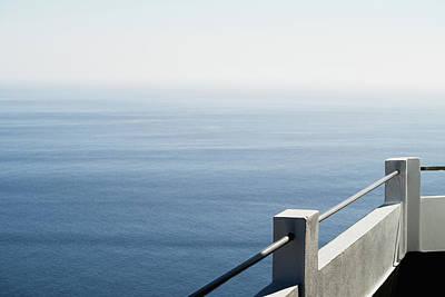 Balcony Photograph - Sea View From Balcony by Rafael Elias