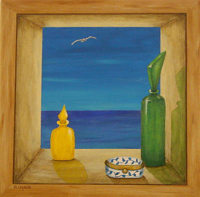 Pill Painting - Sea View Two by Pamela Allegretto