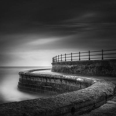 Scarborough Photograph - Sea Wall Scarborough Yorkshire by Ian Barber
