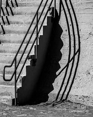 Stair-rail Photograph - Sea Wall Shadow by Perry Webster