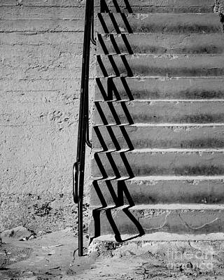 Sea Wall Steps Art Print by Perry Webster