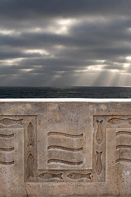 Sea Walls And Light Shafts Art Print by Peter Tellone