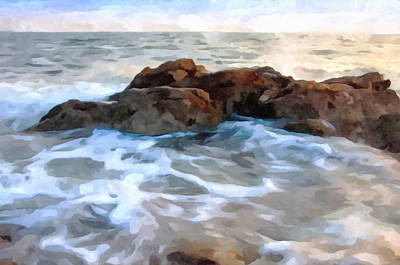 Characteristics Painting - Sea Wave by Lanjee Chee