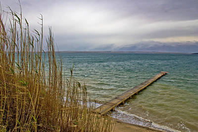 Photograph - Sea Waves Wooden Boardwolk In Sabunike by Brch Photography