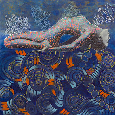 Fractal Geometry Painting - Sea Whisper by Hector and Agata ART