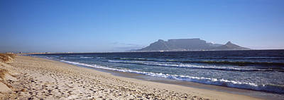 Cape Town Photograph - Sea With Table Mountain by Panoramic Images