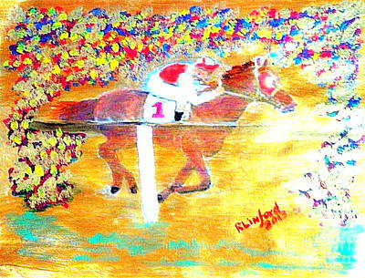 Seabiscuit Painting - Seabiscuit 3 by Richard W Linford