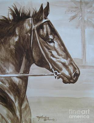 Seabiscuit Painting - Seabiscuit by Nancy J Bailey