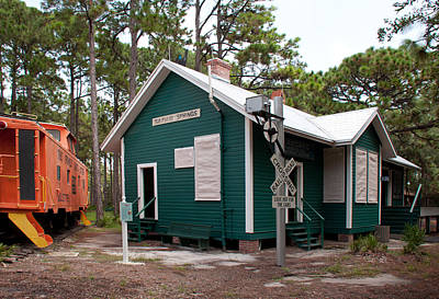 Photograph - Seaboard Railroad Depot Sulphur Springs Florida by John Black