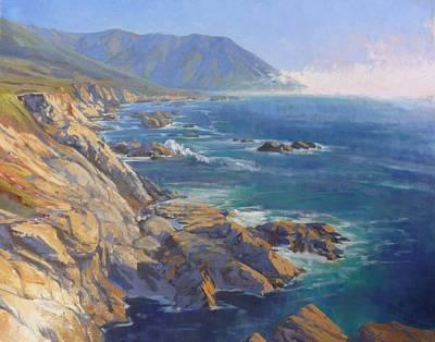 Seacliffs At Garapata Original by Sharon Weaver
