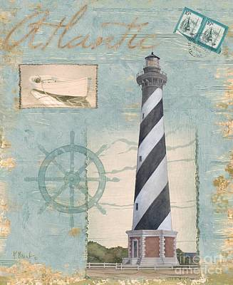 Lighthouse Wall Art - Painting - Seacoast Lighthouse I by Paul Brent