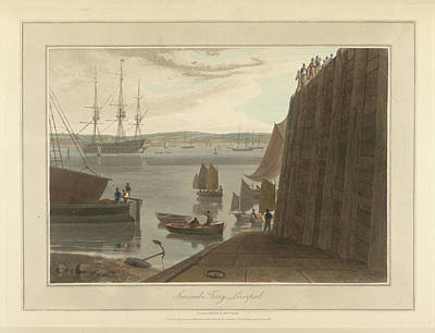 Seacombe Ferry At Seacombe Art Print by British Library