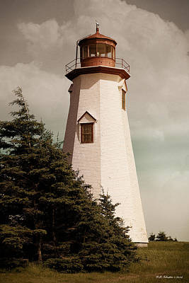 Photograph - Seacow Head Lighthouse P.e.i. by WB Johnston