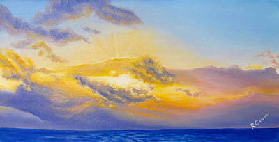Sun Behind Clouds Painting - Seacrecy by Rachel Cruse