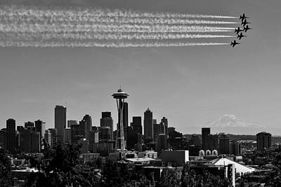 Photograph - Seafair Blues In Black And White by Benjamin Yeager