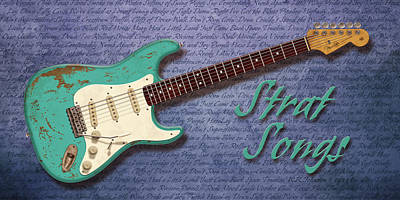 Eric Clapton Digital Art - Seafoam Strat Songs  by WB Johnston