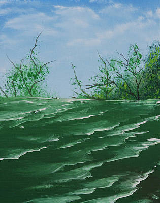 Seafoam Surf Art Print by Jennifer Muller