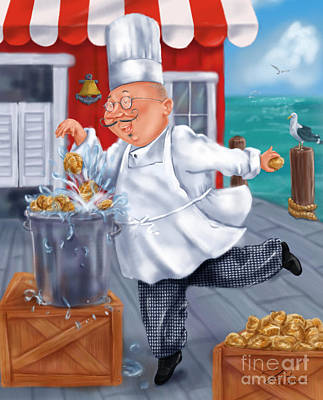 Seafood Chefs-fresh Clams Art Print