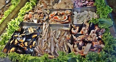 Photograph - Seafood In Venice-10 by Rezzan Erguvan-Onal