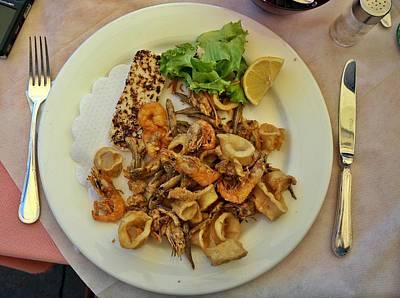 Photograph - Seafood In Venice-2 by Rezzan Erguvan-Onal