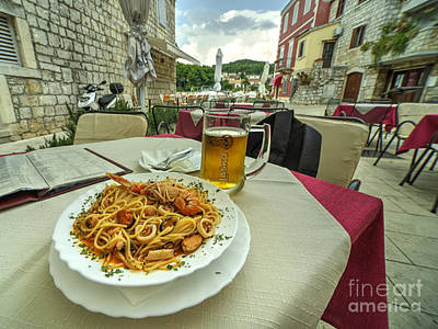 Staris Photograph - Seafood Pasta  by Rob Hawkins