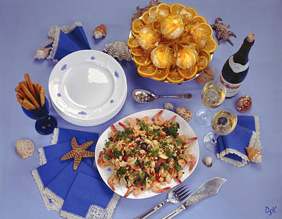 Photograph - Seafood Table by Dolores Kaufman