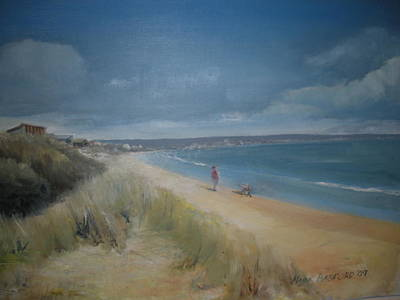 Seaford Painting - Seaford Beach by Mark Basford