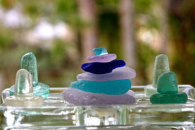 Beachglass Photograph - Seaglass From The Salish Sea by Shelley Lewis