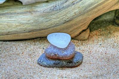 Beach Decor Photograph - Seaglass Root Beer Float by Heather Allen