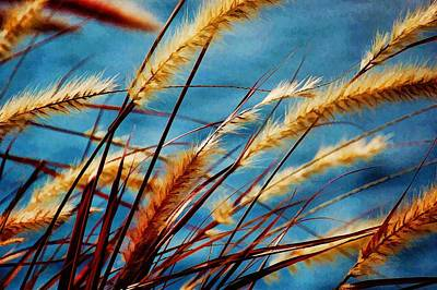 Art Print featuring the photograph Seagrass In The Breeze by Pamela Blizzard