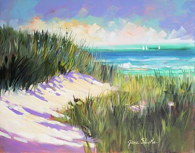 Shore Digital Art - Seagrass Shore by Jane Slivka
