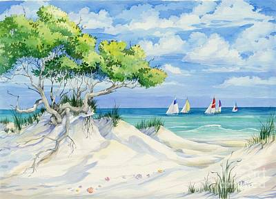 Flora Painting - Seagrove Beach by Paul Brent