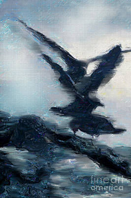 Seagull Grace Art Print by Betty LaRue