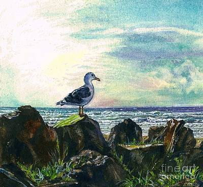 Painting - Seagull Lookout by Cynthia Pride