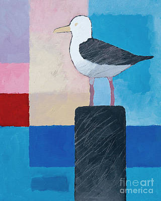 Graphical Painting - Seagull by Lutz Baar